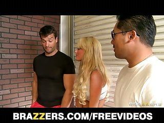 Brazzers, big-tit golden-haired bombshell jacky fun cant live without rough-sex