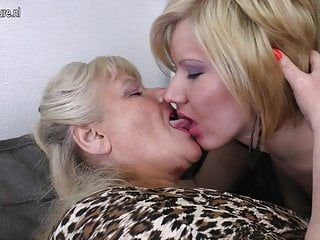 3 old and youthful lesbos have a fun every other