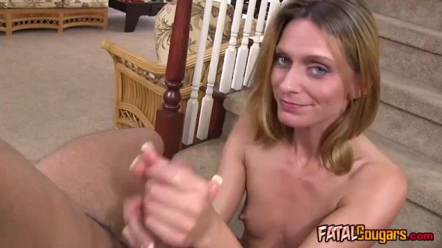 Sexually excited milf with small milk sacks