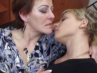 Three old and juvenile lesbian babes have joy