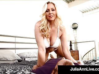 Breasty golden-haired milf julia ann likes sexy loads of cum on her