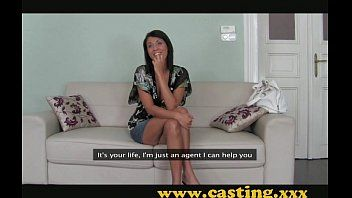 Casting - brunette hair milf with a body to die for
