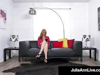 Breasty goldhaarige Milf Julia Ann Gesichtsloch kopuliert einen alt harten Jock