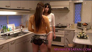 Japanese lesbo housewives licking love tunnel