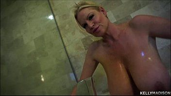 Large titty milf kelly madison takes her tatas for a baths