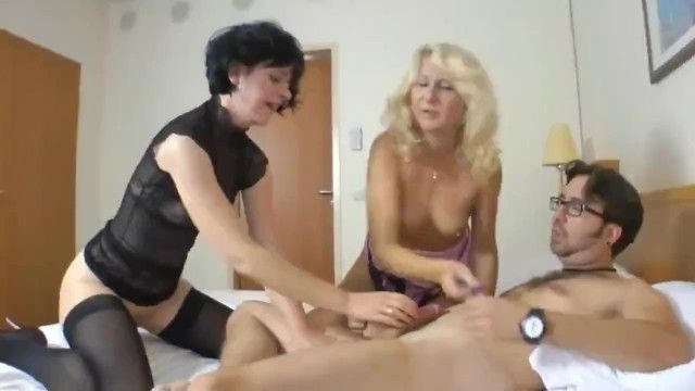 My fortunate most excellent ally bonks 2 breasty german older milfs