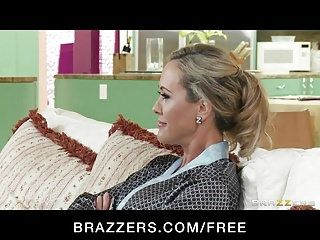 Brazzers - golden-haired milf brandi love is massaged drilled