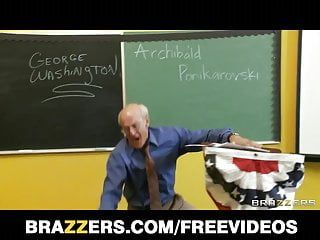Brazzers - sweedish golden-haired with consummate pantoons bonks her educate