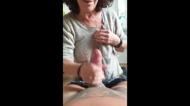 Hot older made flawless skilled tugjob