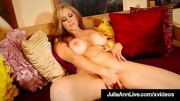 Large boobed mom julia ann in red heels finger pumping