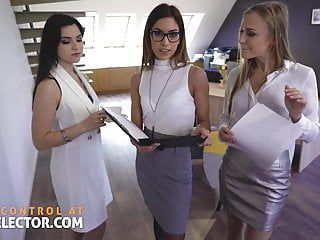Pov office sex with hawt coworkers and breasty wench boss