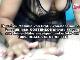 Übergewichtige deutsche Milf Sperma im Hals
