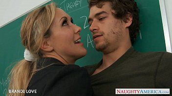 Blond teacher brandi love riding wang in classroom