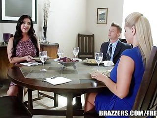Brazzers - two chaps and two milfs fuck