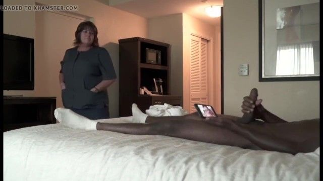 Hotel maid like flashed cock